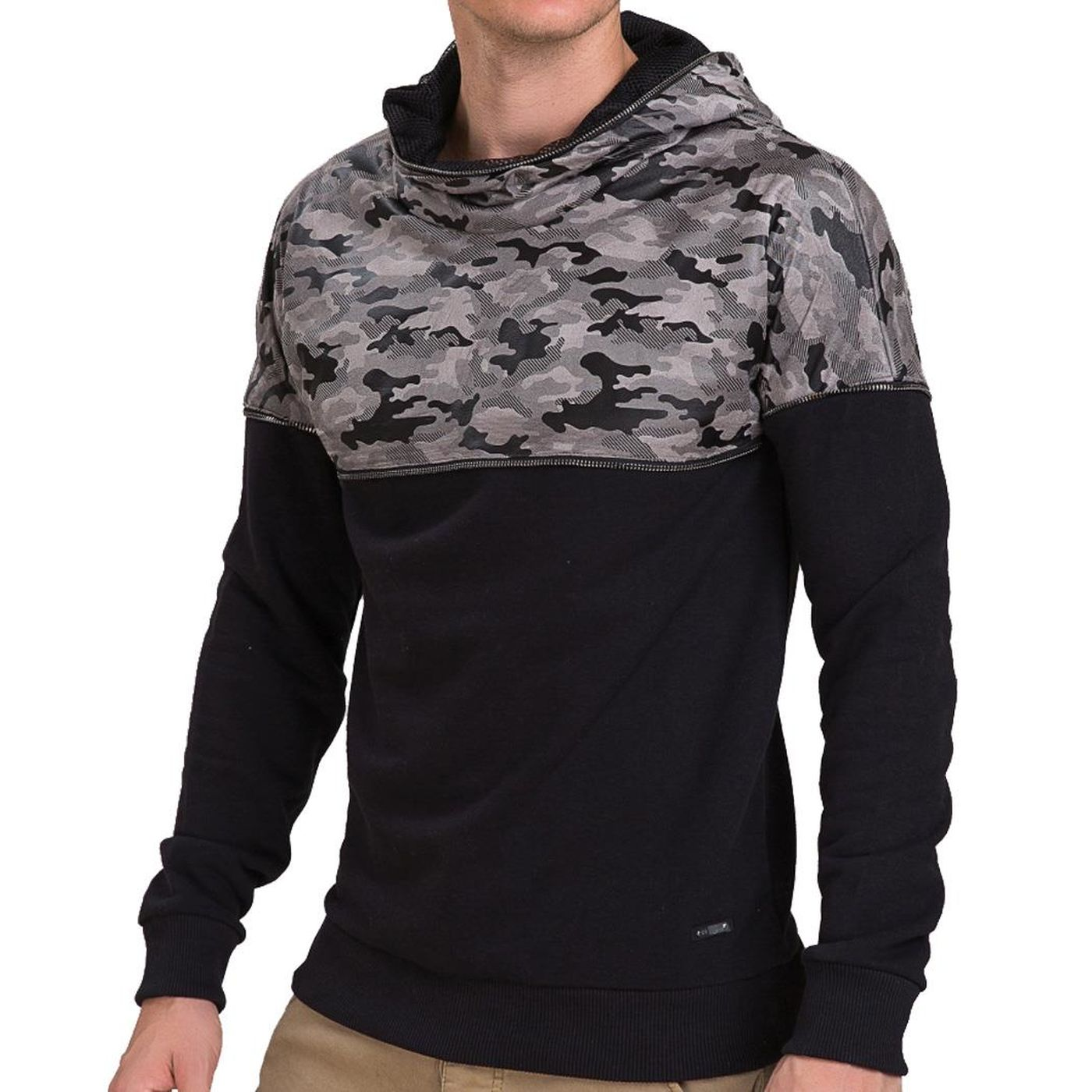 red bridge herren mesh camouflage hoodie pullover m2043. Black Bedroom Furniture Sets. Home Design Ideas