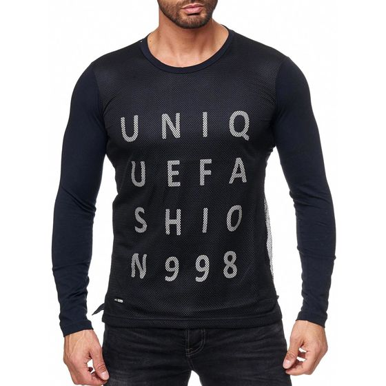 Red Bridge Herren Unique Fashion Pullover Longsleeve Schwarz