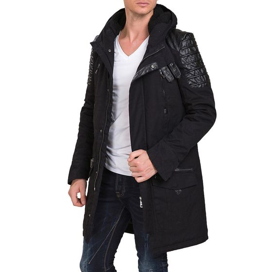 Red Bridge Mens Winter Samurai Jacket Oversize Black