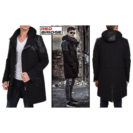 Red Bridge Herren Winter Samurai Jacke Oversize Schwarz S