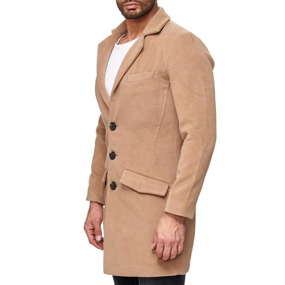 Red Bridge Mens Detective Winter Jacket Oversize Camel
