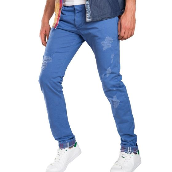 Red Bridge Herren Squared Regular Fit Jeans Denim Pants blau