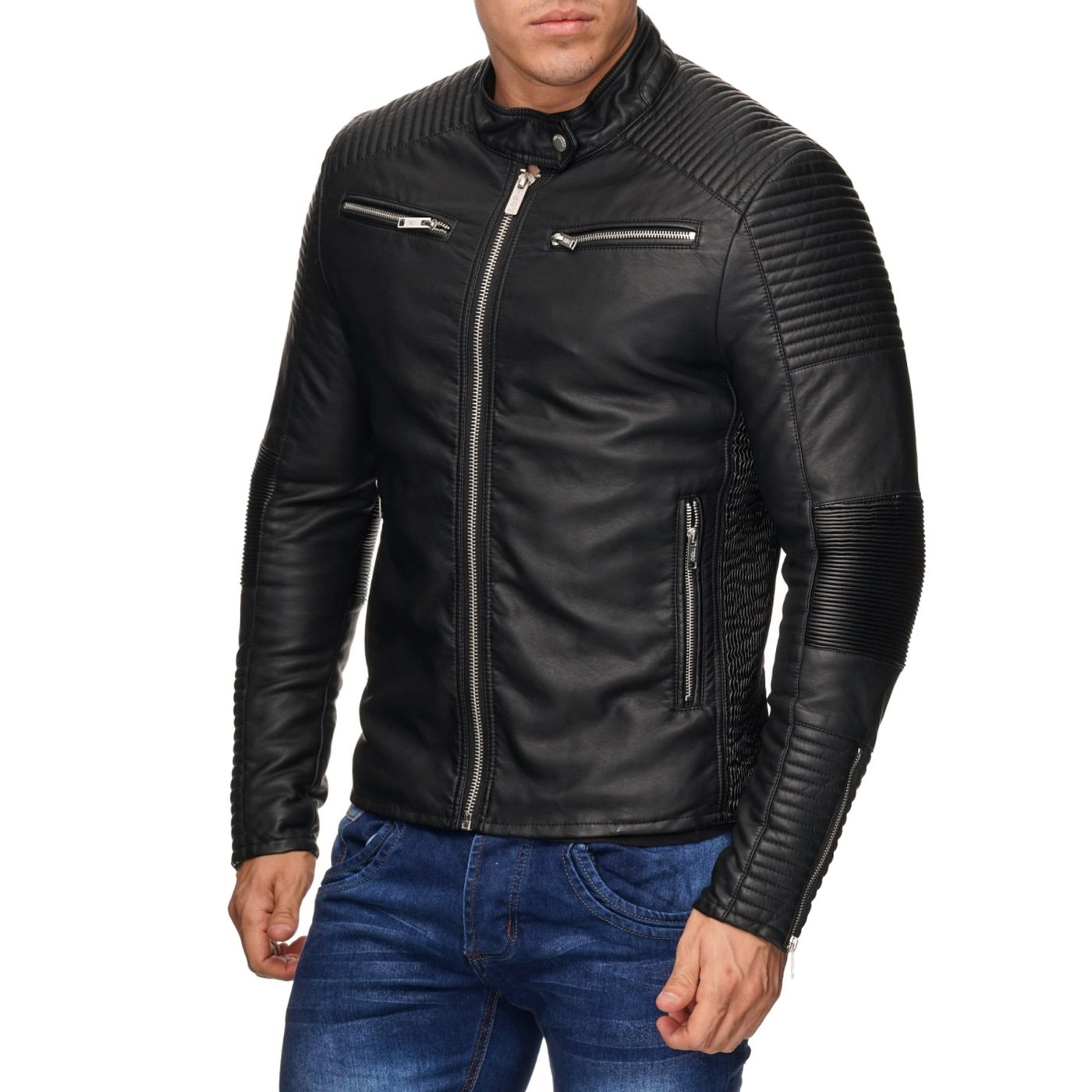 red bridge herren biker jacke kunst lederjacke bikerjacke. Black Bedroom Furniture Sets. Home Design Ideas