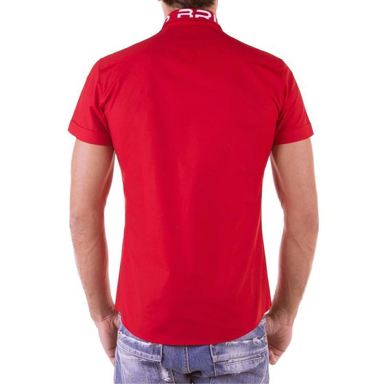 Red Bridge Herren Professionel Design Slim Fit kurzarm Hemd rot