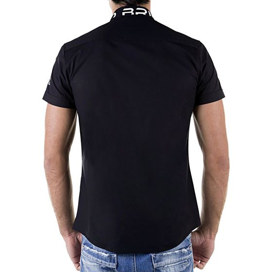 Red Bridge Herren Professionel Design Slim Fit kurzarm Hemd schwarz