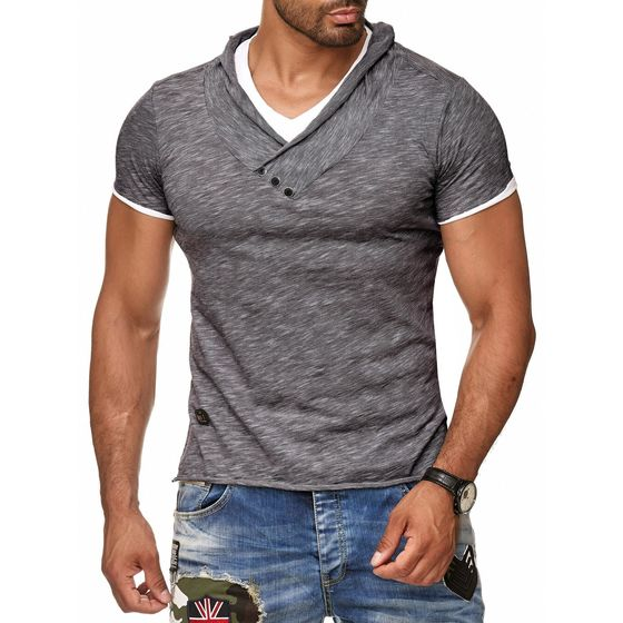 Red Bridge Herren Melange T-Shirt anthrazit