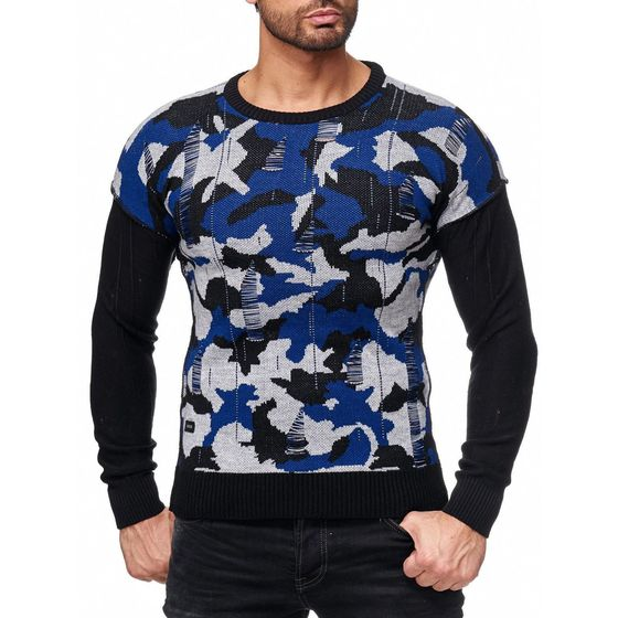 Red Bridge Herren Wild Wild Camouflage Strickpullover...