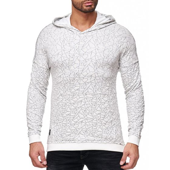 Red Bridge Mens Sharp Shards Hoody Sweatshirt Ecru ...