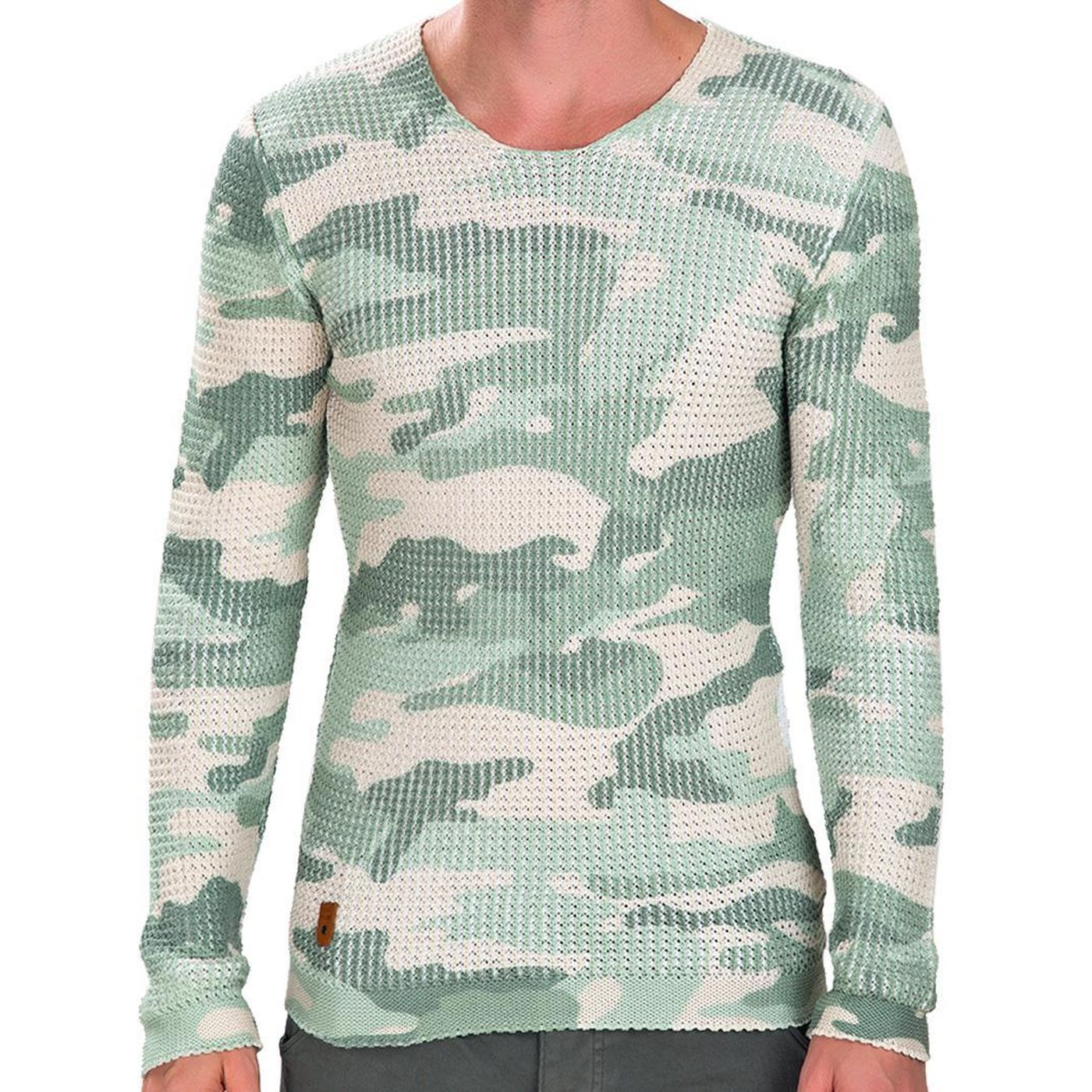 red bridge herren rib camouflage pullover camouflage m3043. Black Bedroom Furniture Sets. Home Design Ideas