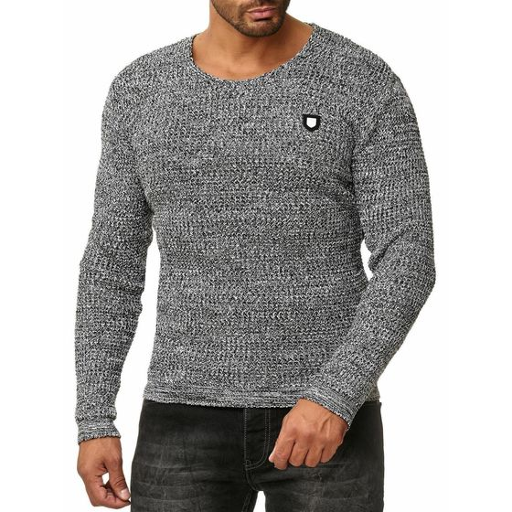 Red Bridge Herren Men of the Year Strickpullover Pullover grau melange