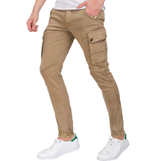 Red Bridge Herren Rocky Jogg-Denim Cargo Camel