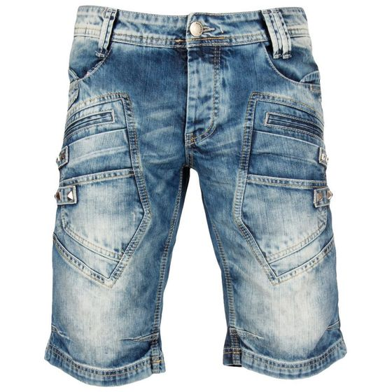 Red Bridge Herren Keep Back Jeans Shorts kurze Hose blau