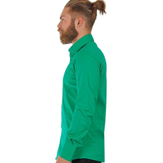 Red Bridge Herren Basic Design Slim Fit Langarm Hemd Green