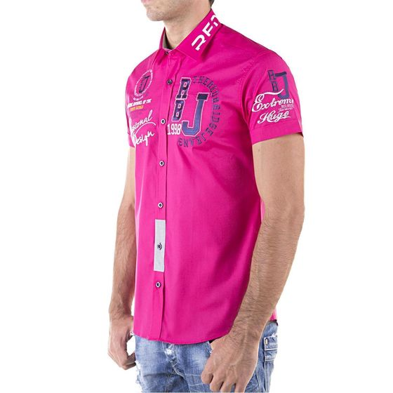 Red Bridge Herren Professionel Design Slim Fit kurzarm Hemd fuchsia