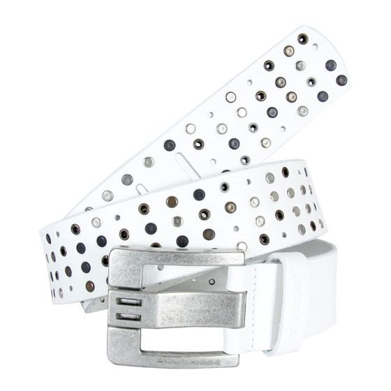 Red Bridge Herren Studded Echt - Ledergürtel Gürtel Belt...