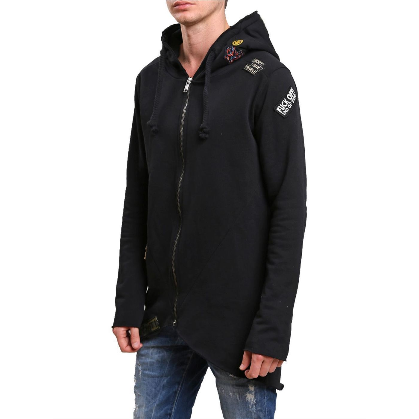 red bridge herren sweatjacke jacke pullover oversize kapuze patches s. Black Bedroom Furniture Sets. Home Design Ideas