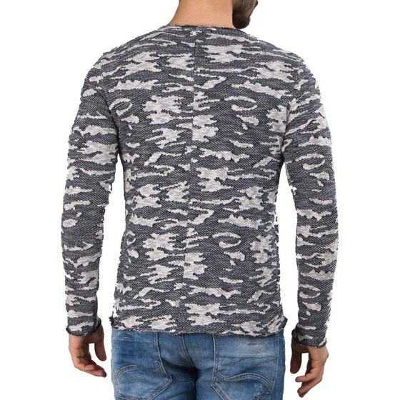Red Bridge Herren Pullover Grobstrick Strickpullover Blau