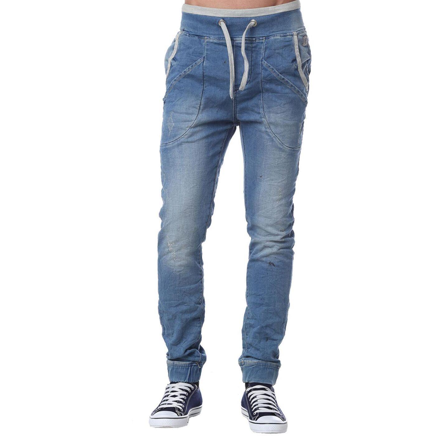 red bridge herren jogg denim jeans hose mit gummizug blau. Black Bedroom Furniture Sets. Home Design Ideas