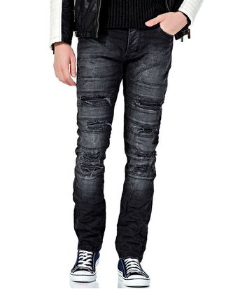 Red Bridge Herren Cut Lines Röhrenjeans Jeans Pants Denim...