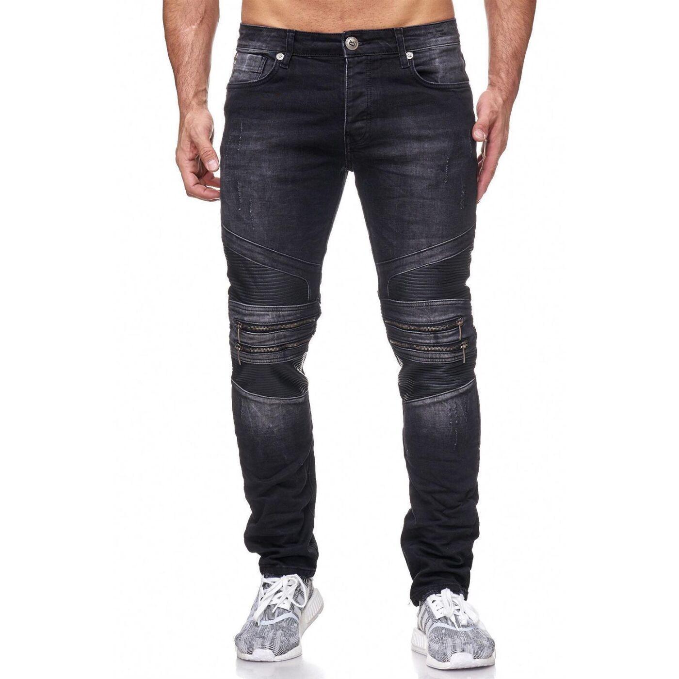 red bridge herren jeans hose mc motorrad biker black style. Black Bedroom Furniture Sets. Home Design Ideas