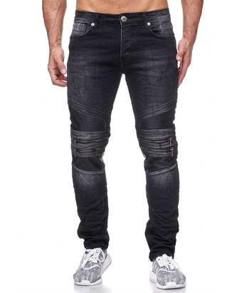 Red Bridge Herren Jeans Hose MC Motorrad Biker Black...