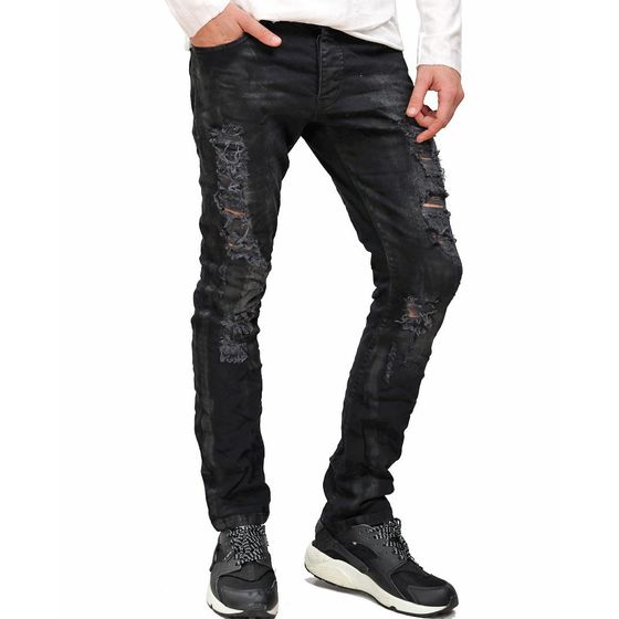 Red Bridge Herren zerknittert Jeans Pant Slim-Fit...