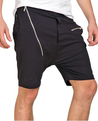 Red Bridge Herren Capri Long Zipped Short Kurze Hose Schwarz