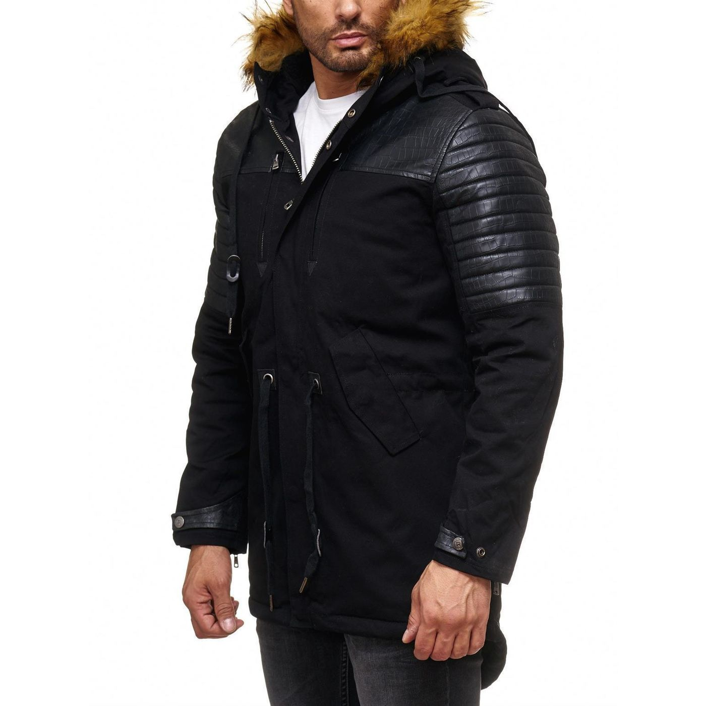 herren winterjacke lang carisma herren kurzmantel parka jacke winterjacke lang extra lang. Black Bedroom Furniture Sets. Home Design Ideas