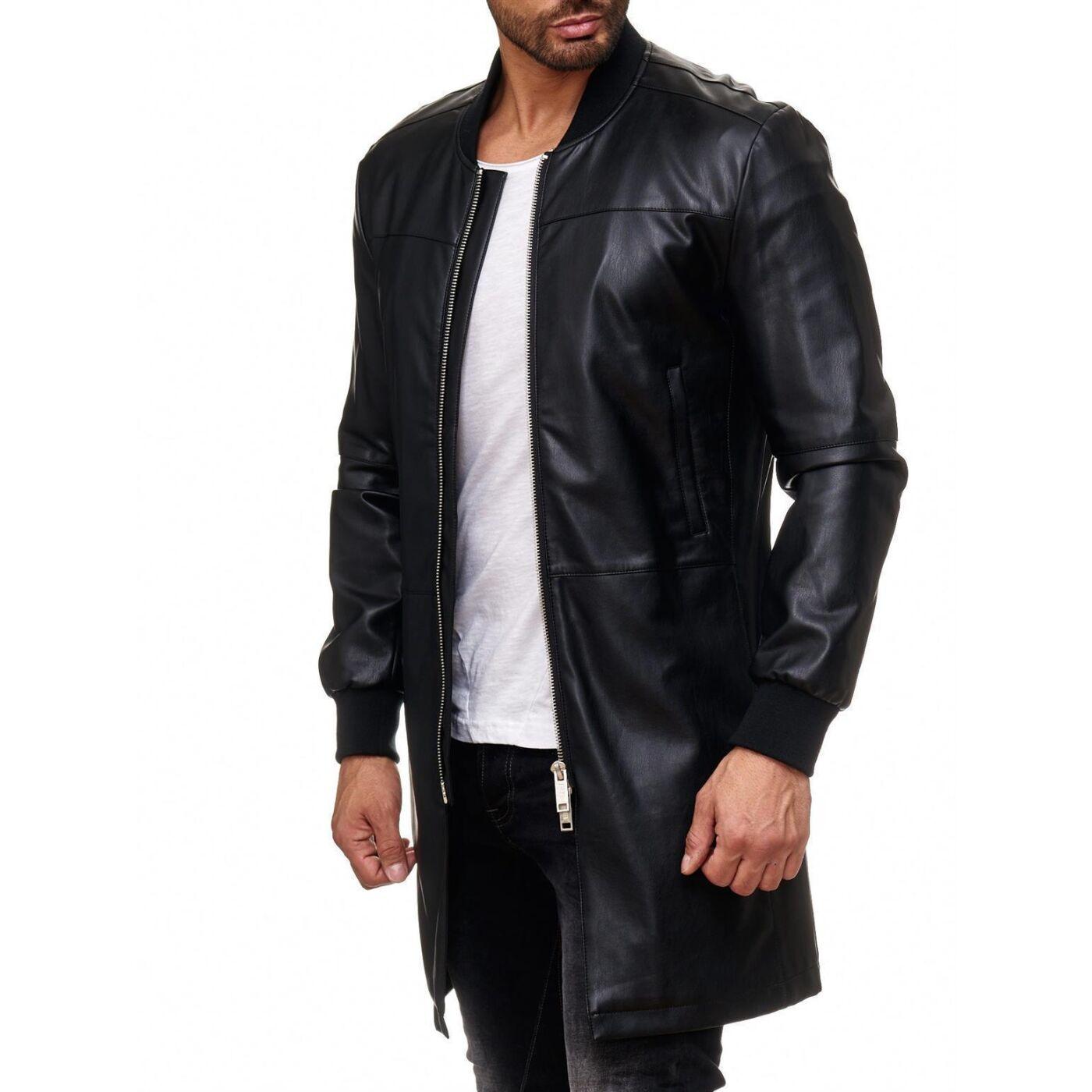 Leder Jacke Schwarz Herren Weiß Weiß Jacke Schwarz Herren Jacke Leder Leder Herren eCxBod