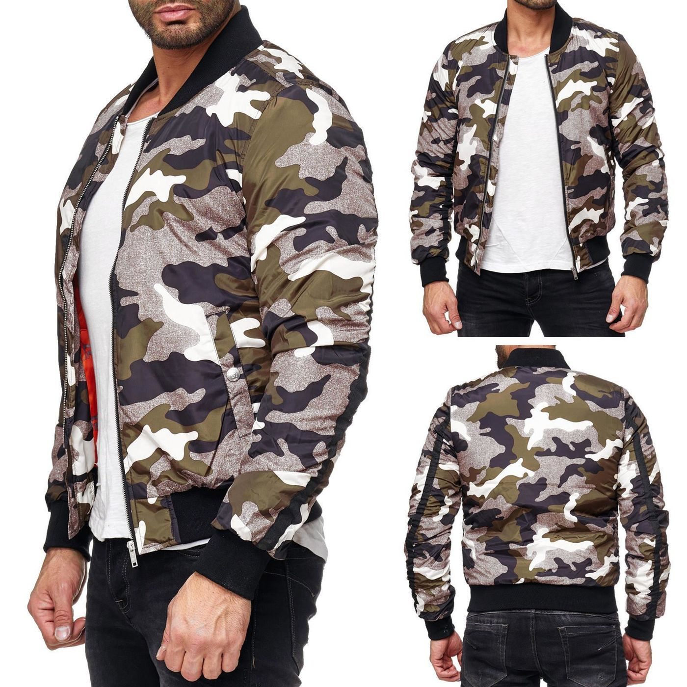 red bridge herren camouflage winter jacke m6030 camouflage. Black Bedroom Furniture Sets. Home Design Ideas