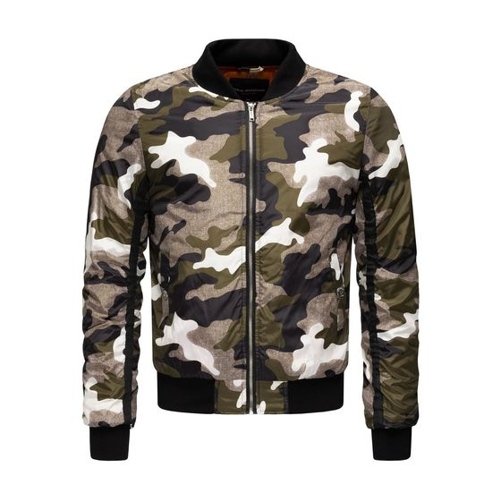 Red Bridge Herren Camouflage Bomberjacke Winter Jacke...