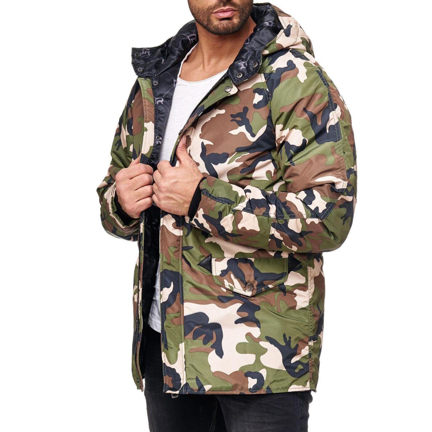 camouflage winterjacke herren