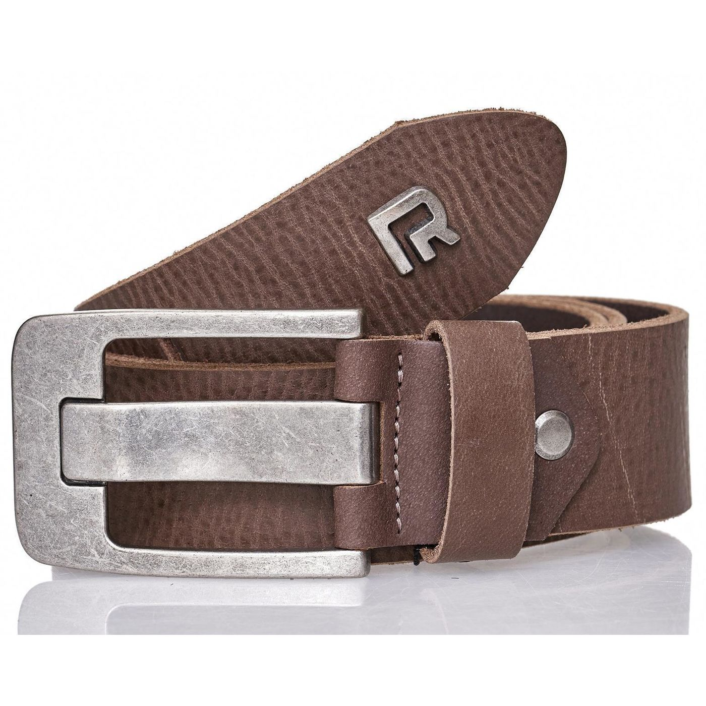 3861473cc259b9 Red Bridge Herren Gürtel Ledergürtel Echtleder Leather Belt RBC Premium Grau
