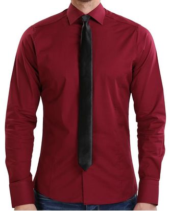 Red Bridge Herren Basic Design Slim Fit Langarm Hemd...
