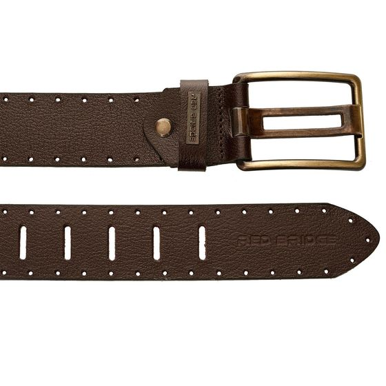 Red Bridge Herren Gürtel Echtleder Ledergürtel Leather Belt RBC Premium Braun