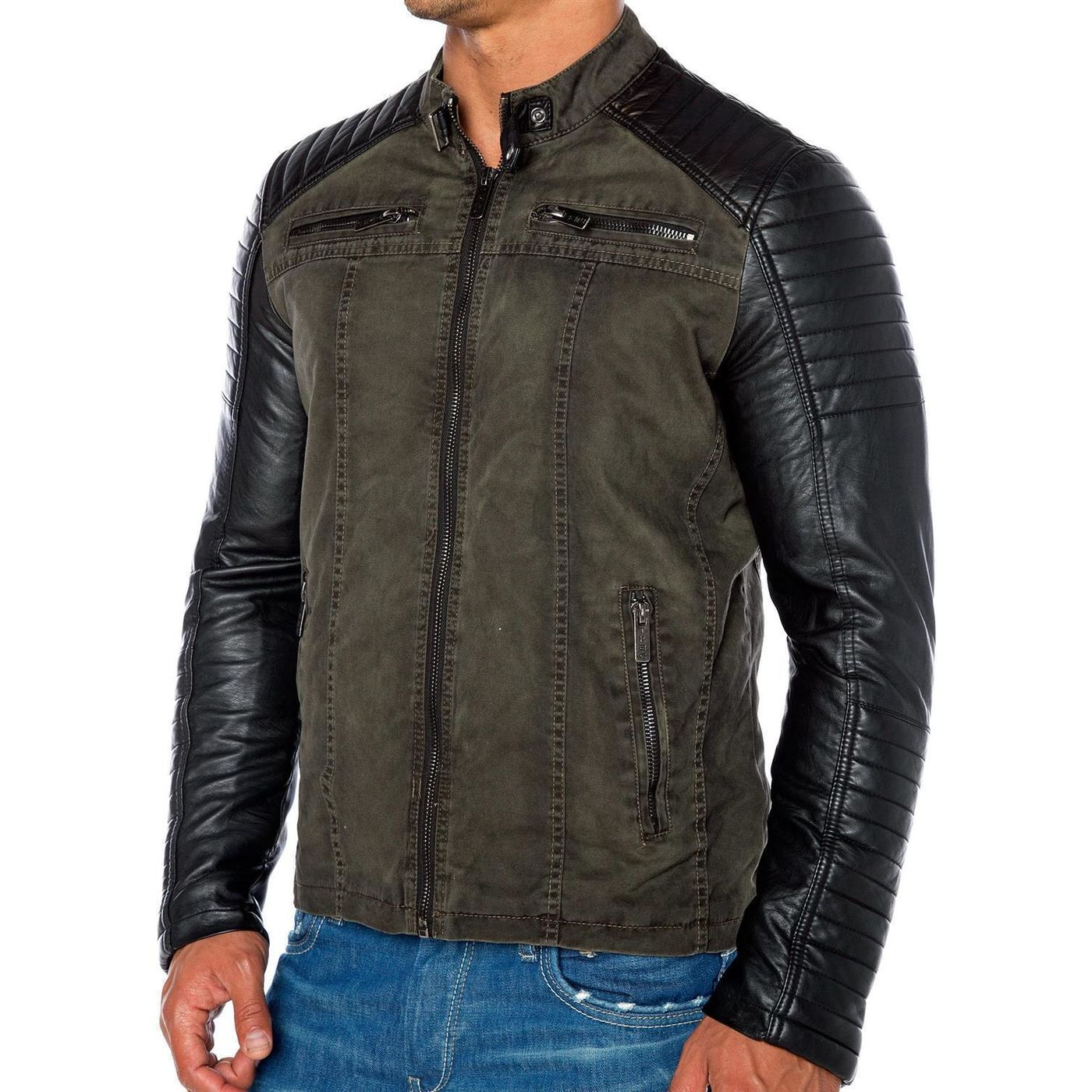 red bridge herren biker jacke kunst lederjacke jacket. Black Bedroom Furniture Sets. Home Design Ideas