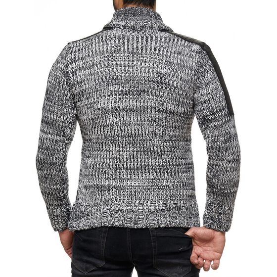 Red Bridge Herren RBC Cardigan Strickjacke Strickpullover Pullover Jacke Anthrazit Grau