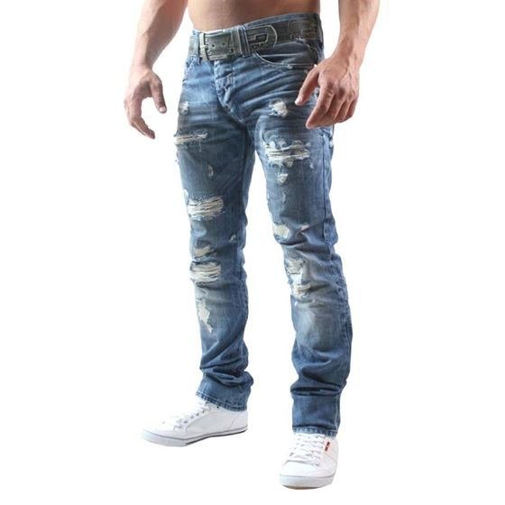 Red Bridge Herren Jeans Hose Destroyed Denim Regular Fit...