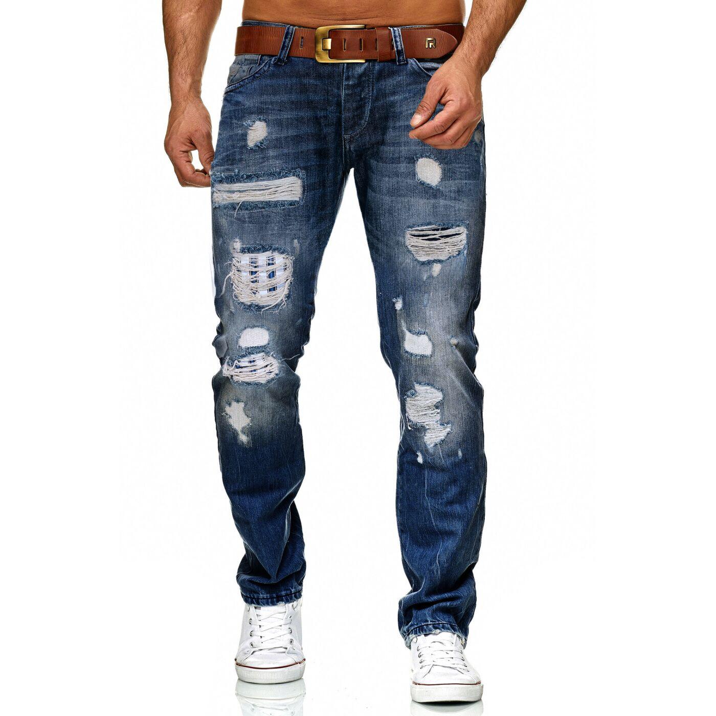 Red Bridge Herren Destroyed Jeans Hose Fashionable Used Look Rb 162