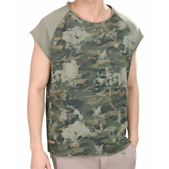 Red Bridge Herren Tank Top T-Shirt Freedom Calls Khaki...