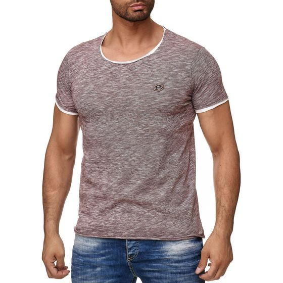 Red Bridge Herren T-Shirt Contrast Layer Sense Frequency...