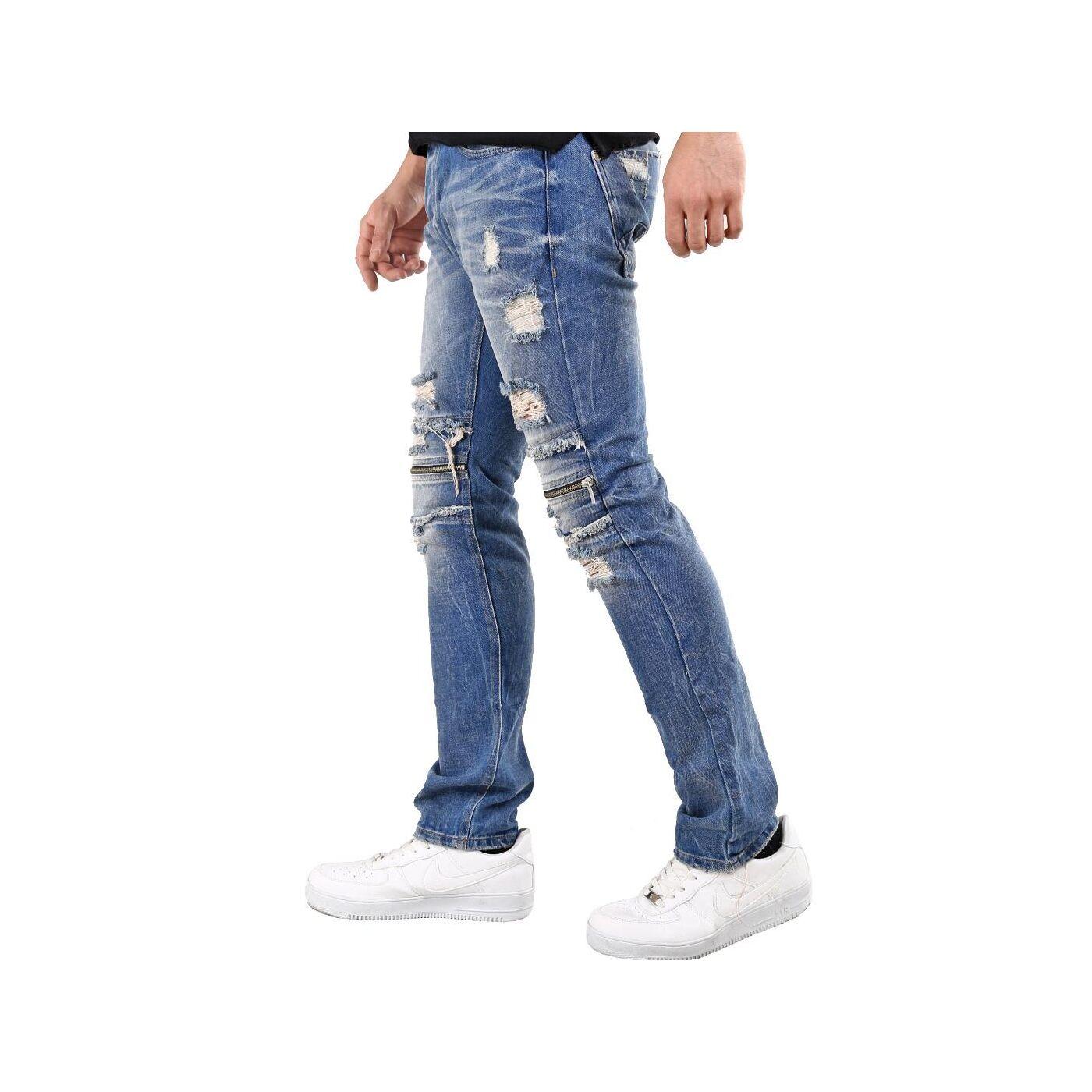 red bridge herren jeans hose zipper destroyed blau. Black Bedroom Furniture Sets. Home Design Ideas