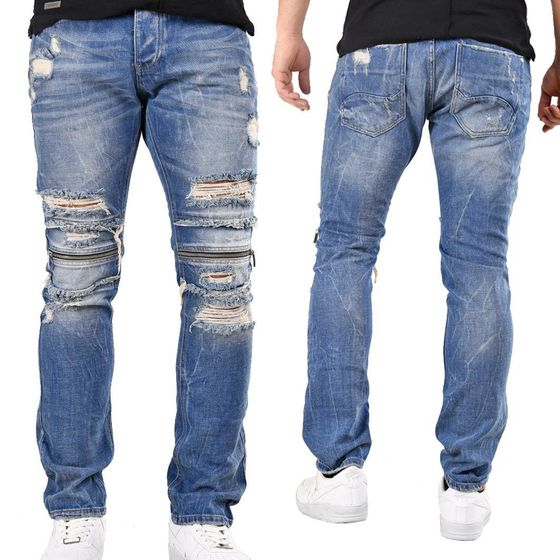 Jeans hellblau used look