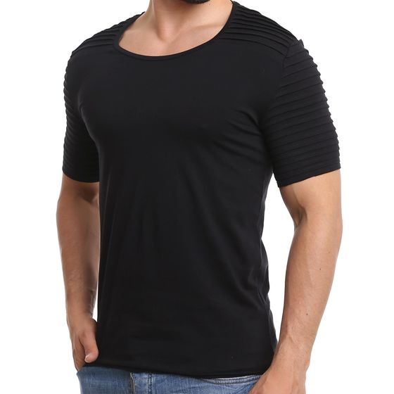 Red Bridge Herren Stretchable Sleeves T-Shirt Schwarz