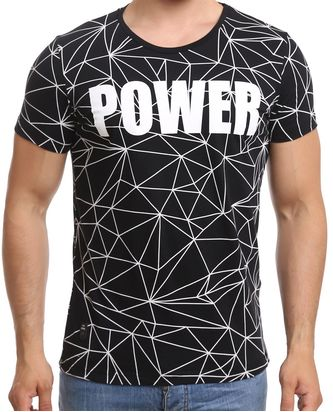 Red Bridge Herren T-Shirt Power Print Modern Schwarz
