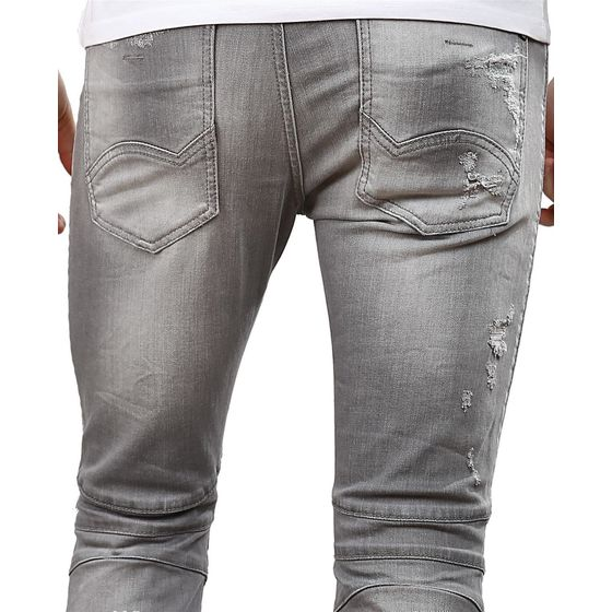 Red Bridge Herren Jeans Hose Slim Fit Röhrenjeans Skinny Pants Denim grau