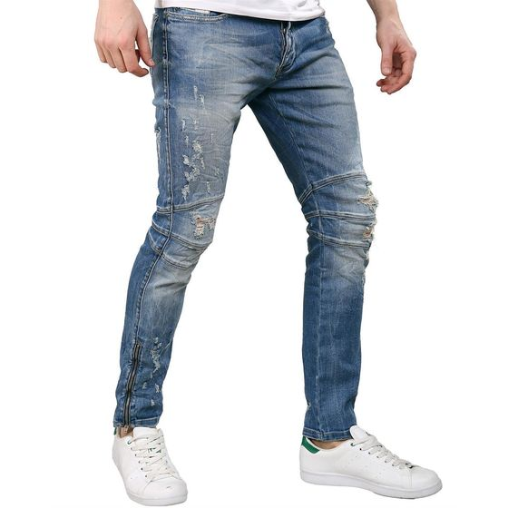 Red Bridge Herren Jeans Vintage Destroyed Röhrenjeans...