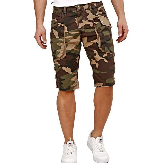 Red Bridge Mens Capri Shorts Working Agility Camouflage