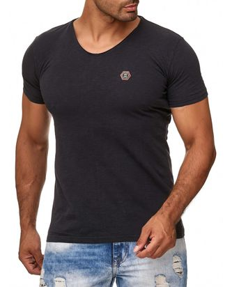 Red Bridge Herren V-Neck T-Shirt Dunkelblau