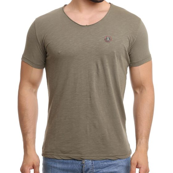 Red Bridge Herren V-Neck T-Shirt Khaki